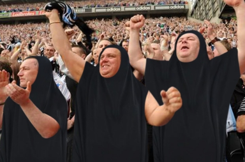 burka football supporters 1