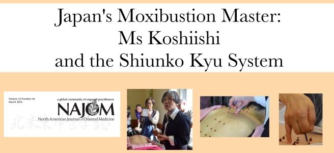 Ms Koshiishi Shiunko kyu moxibustion