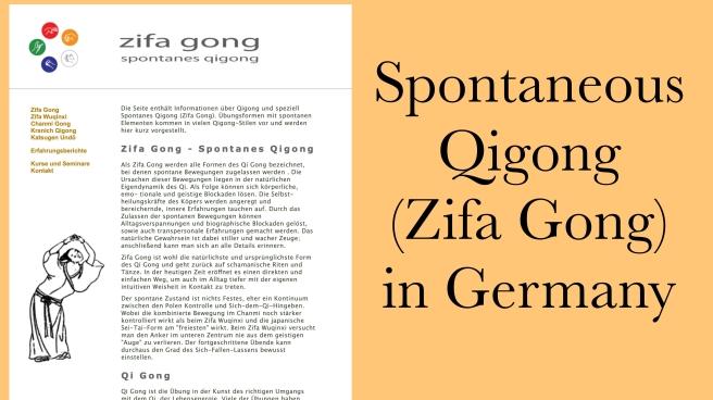 Spontaneous qigong zifa gong Germany