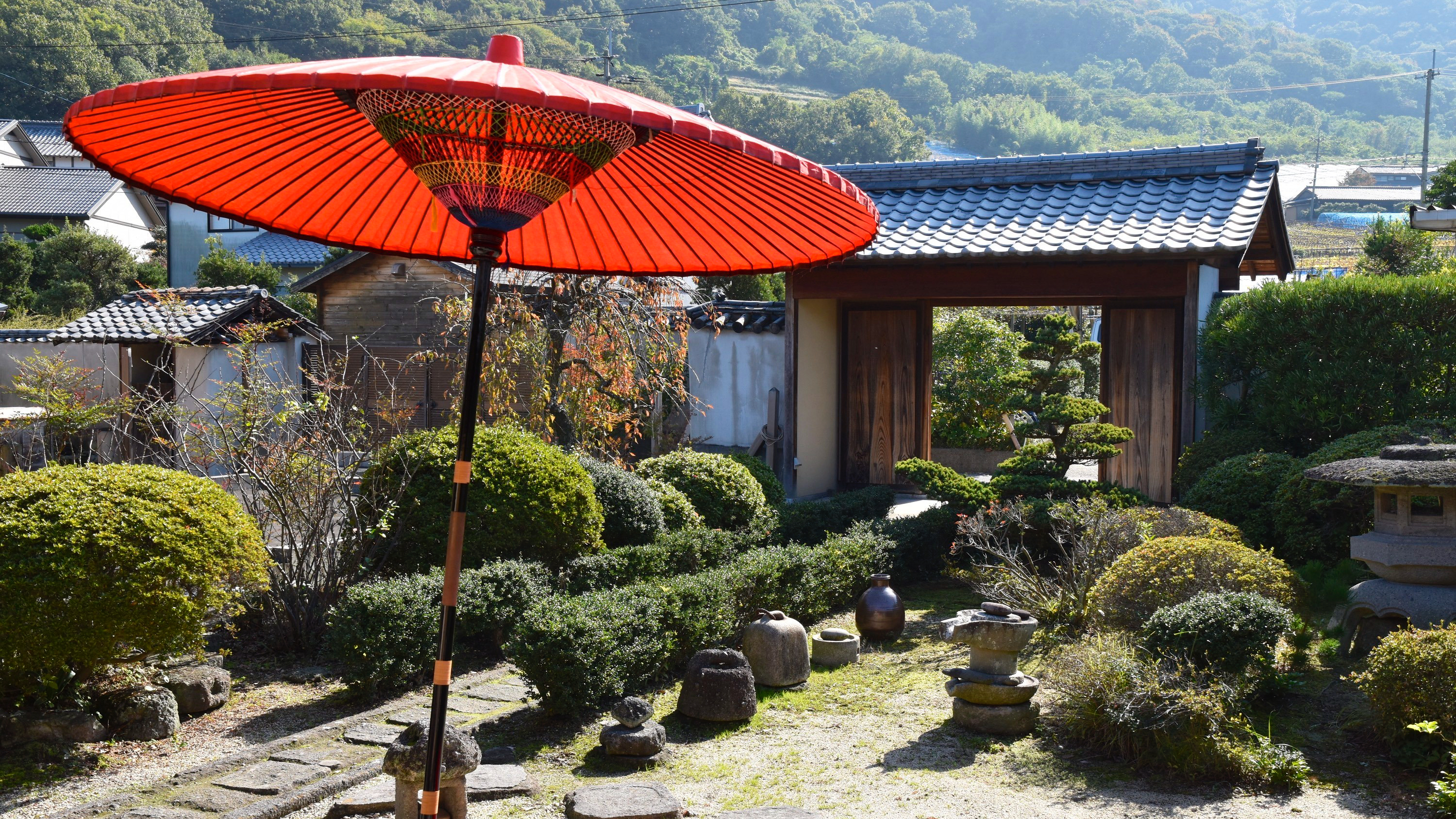Japanese garden: fortune comes in by a merry gate
