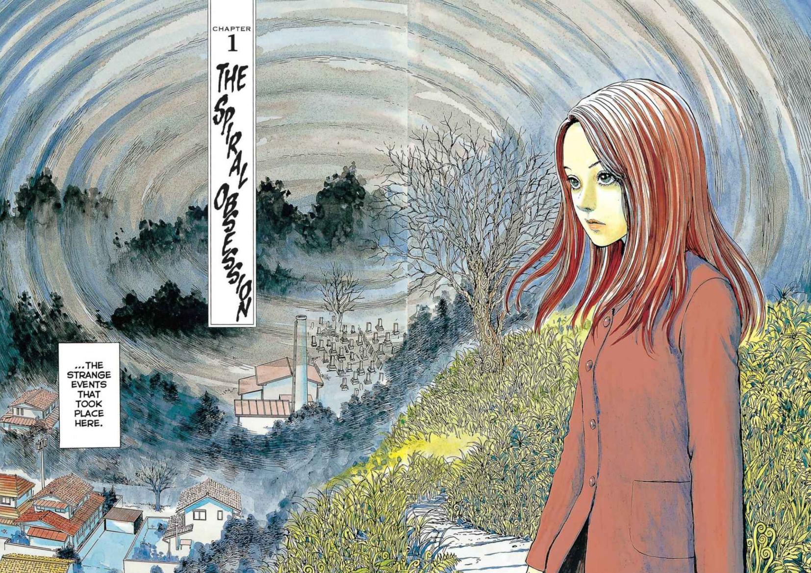 Umazaki Spiral Junji Ito energy moves in spirals