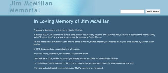Jim McMillan Memorial