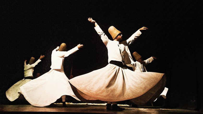 energy moves in spirals whirling dervish