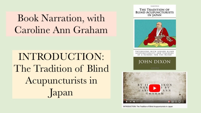 Introduction Narration Blind Acupuncturists in Japan